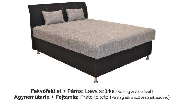 Hotel fr.ágy lawa 5 szürke - prato 100 fekete