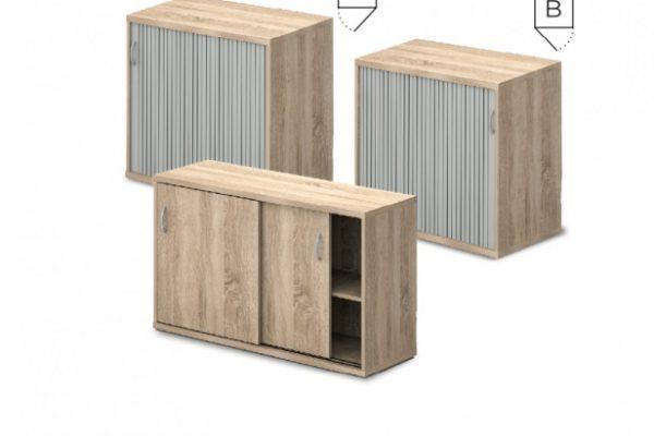 Tolóajtós és Redőnyös asztalmagas szekrények [Vénusz]