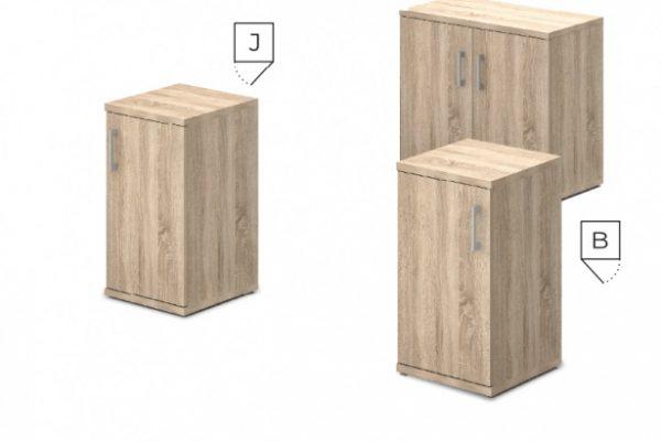 Ajtós-polcos asztalmagas szekrények [Vénusz]