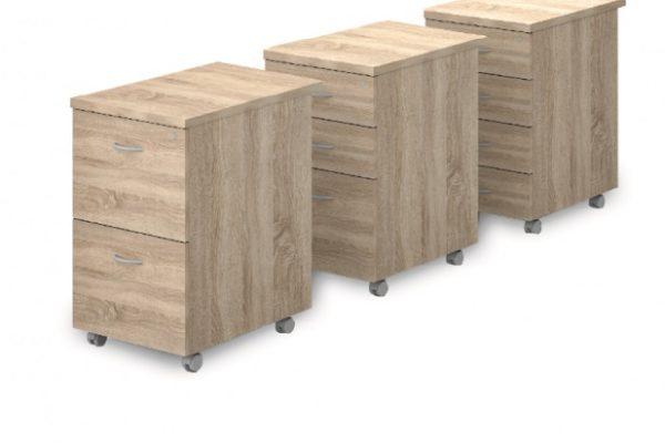 Asztalmagas fafiókos konténerek 624 mm-es mélységben [Vénusz]